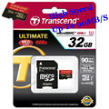 High speed Transcend Micro sd card Genuine 600X 32gb 16gb MicroSDHC MicroSDXC Card 90MB/S Class10 UHS-I memory card tf card