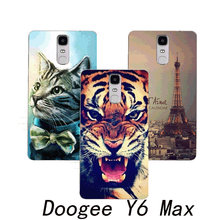 phone case for DOOGEE Y6 Max Android 6.0 6.5 inch An Case Cover Rose Flower Eiffel Tower Cute Animal Perfect Design Fashion(China)