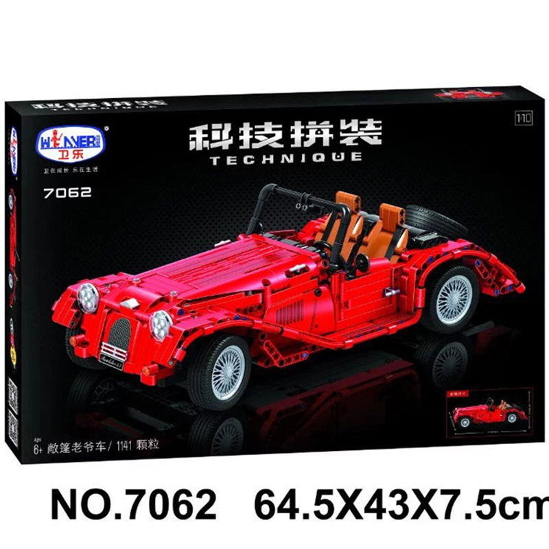 7062 Lepin Technic convertible car building bricks blocks toys for children Boy Game Bela lepin 22001 imperial flagship building bricks blocks toys for children boys game model car gift compatible with bela decool10210