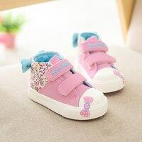 Yeeshow холст Обувь для младенцев обувь для девочек удобная мягкая подошва дышащая обувь для маленьких девочек Обувь Infantil анти-collosion носком Кеп...