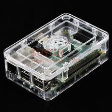 Przezroczysty oryginalny oficjalny futerał na Raspberry PI 3 model B + plus ABS obudowa z tworzywa sztucznego obudowa obudowa obudowa tanie tanio Przypadki Raspberry PI 3B+ plus SUYGK