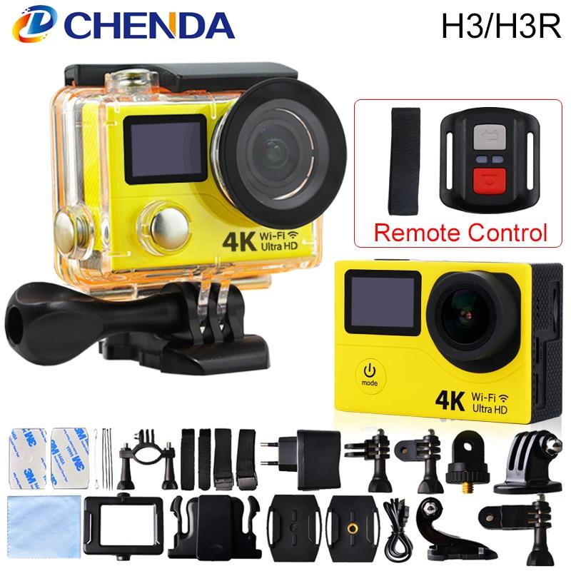 bilder für Original H3/H3R Action Kamera 4 Karat Wifi Ultra HD 170D Gehen 30 Mt wasserdichte Mini Cam Pro Doppel Bildschirm Schwimmen Sport Kamera Hero 4 stil