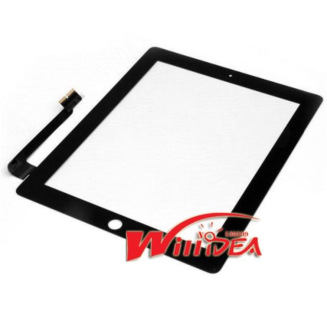 Nueva pantalla de panel táctil pantalla digitalizador para ipad 3 4 pantallas para el nuevo ipad envío libre negro o blanco