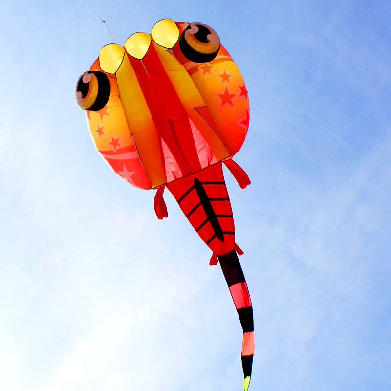 free shipping high quality new 3d soft kite nylon ripstop outdoor toys large kite flying jellyfish trilobites kites factory