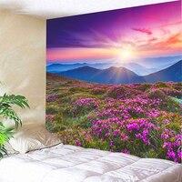 National Beautiful Scenery Flowers Valley Meditation Chakra Fashion Fresh Style Mandala Tapestry Wall Mountain
