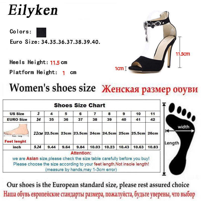 dc633d11 Eilyken 2019 sandalias de gladiador de verano Zapatos de fiesta de ...