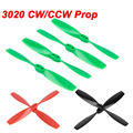20Pcs/Lot 3020 Bull Nose Props 2-blade CCW CW Plastic Propeller For RC Quadcopter 100-130 Drones Green Black Red 3 colors option