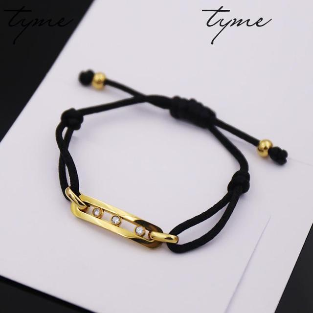 Tyme fashion jewelry wholesale Stainless Steell gold color love h