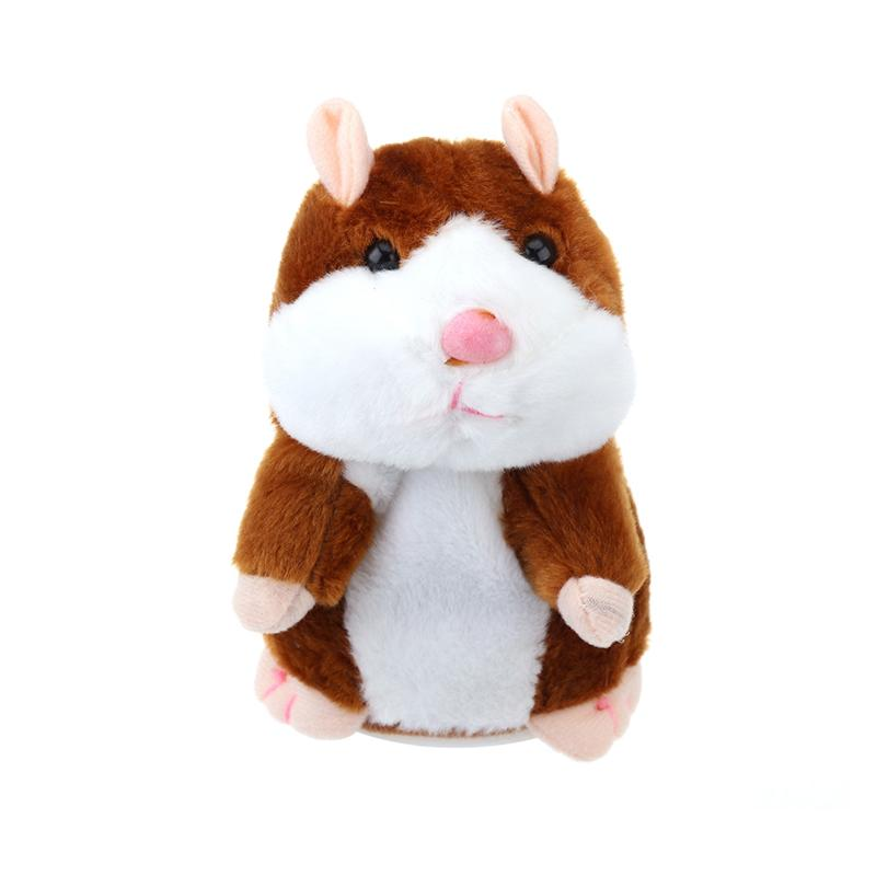 Talking Hamster Mouse Pet Plush Toy Hot Cute Speak Talking Sound Record Hamster Educational Toy for Children Gift 3 Colors