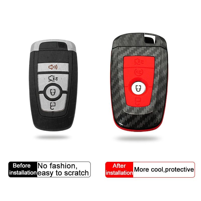 QHCP 4Pcs Set Auto accessory Remote Car Key Case ABS Key Cover Shell Bag Special For