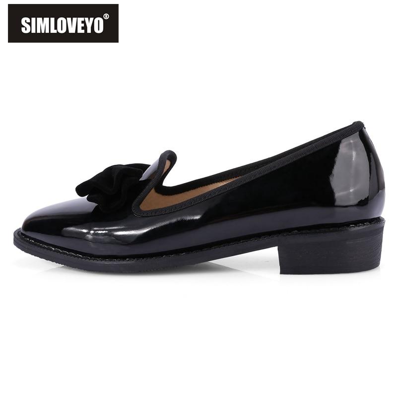 Chaussures Black Cool Noir Appartements Simples Lady Taille Nouveauté 48 32 Printemps Rl3274 red Pu Femmes Simloveyo Bowtie Grande Été Brevet Rouge awvH1tWx