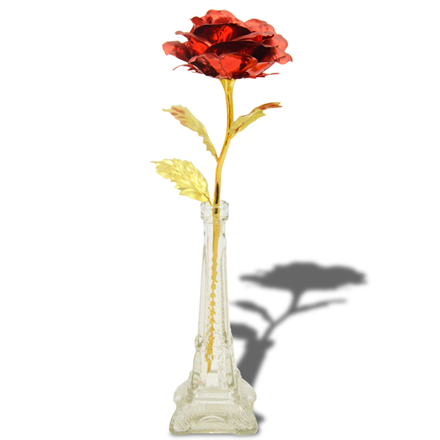 Quality Products 24k Gold Foil Rose Flower Artificial Rose Pure Gold
