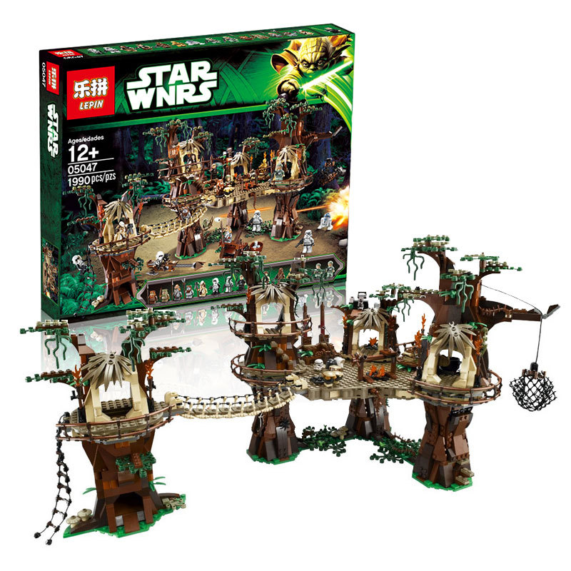 05047 1990 Unids Star Wars Aldea Ewok Kits de Edificio Modelo Bloques Ladrillos Compatibles Juguete Ninos 10236