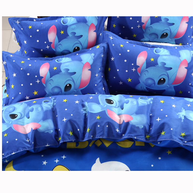 Disney Lilo and Stitch Bedding Set 3/4 Pieces Blue Comforter Cover 3D Children Bedroom Decor for 1.5m Bed 2