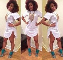 2015 New Summer women white tshirt dress sexy bandage short beach dress cotton long tops tee night club party dresses 12 color