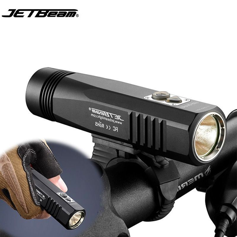 Jetbeam BR10GT Bicycle Flashlight Cree XM-L2 T6 960 lumens Led Flashlight by 18650 Battery for Self Defense flashlight led cree xm l2 light 3800 lumens 26650 battery outdoor camping telescopic zoom self defense powerful led flashlight