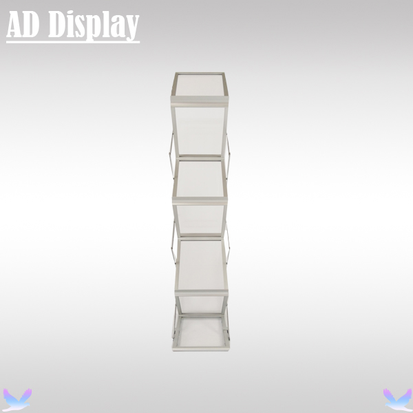 Trade Show Booth A4 Folding Acrylic Display Brochure Stand With Hard