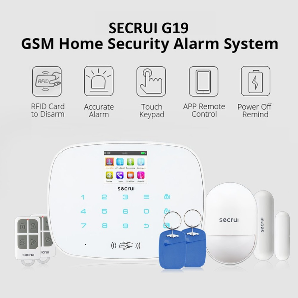 G19 GSM Alarm System Wireless Detector TFT Color Screen Digital Dual Core Technology Infrared Detector Import Sensors