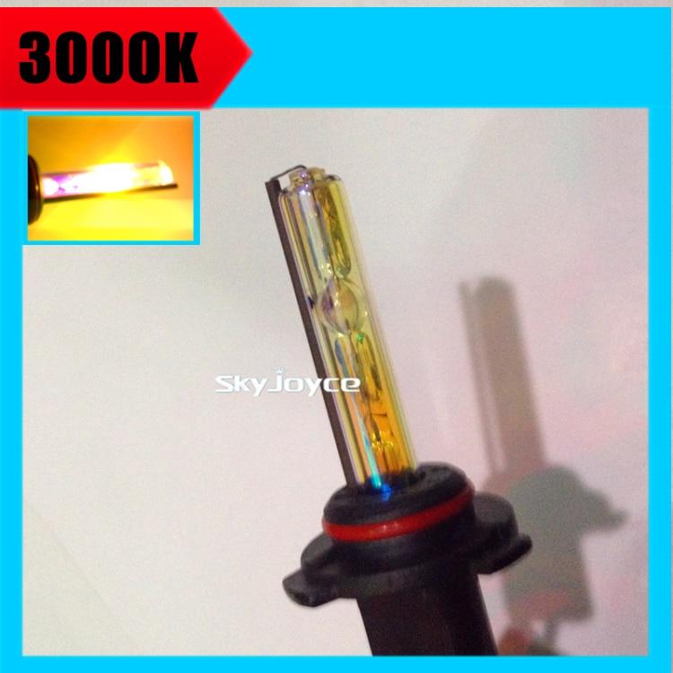 buy 2x 35w xenon h1 h7 h11 3000k golden yellow hid xenon lamp bulb globe. Black Bedroom Furniture Sets. Home Design Ideas