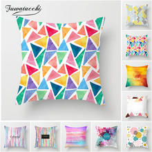 Fuwatacchi Geometric Printed Cushion Cover Colorful Diamond Star Throw Pillow Soft Decorative Sofa Candy Case