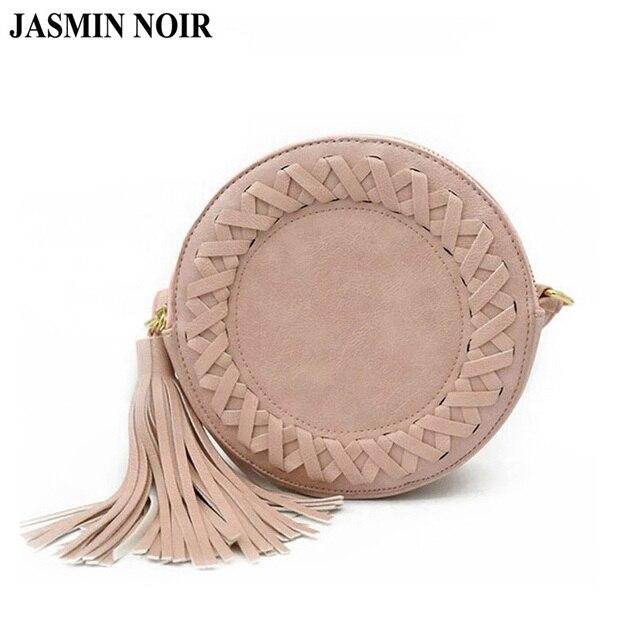 Новая модная женская сумка с кисточками, круглая плетеная Сумка через плечо, сумка-мессенджер в стиле ретро, Женская милая сумка на плечо для девочек, серая, коричневая