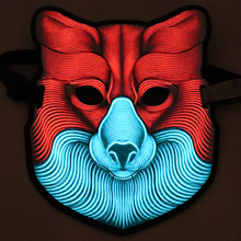 Mask Halloween Masks LED Flashing Light Up Party Cosplay sound activated flashing lights for Hip-Hop Nightclub Masquerade