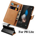 Wallet Flip Case For Huawei P8 Lite 2015 PU Leather Cover Hard Plastic Back With Card Holders P8 Lite 2015 Coque Capinha Black