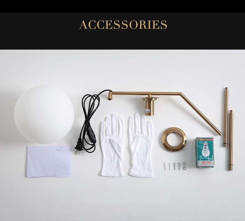 Modern LED Table Lamp Desk Lamp Light Shade Glass Ball Table Lamp Desk Light for Bedroom Living Room Floor Conner Gold Designs (5)