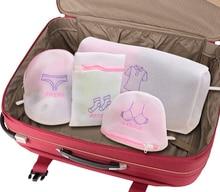 4PCS/SET Women laundry bag Hosiery Shirt Sock Underwear bra Washing bag Lingerie Wash Protecting Mesh Bag Aid Laundry Saver