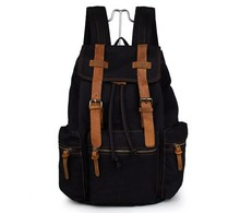 J.M.D High Quality Canvas Schoolbag Mens Fashion Backpack College Student Laptop For Travelling 9003A