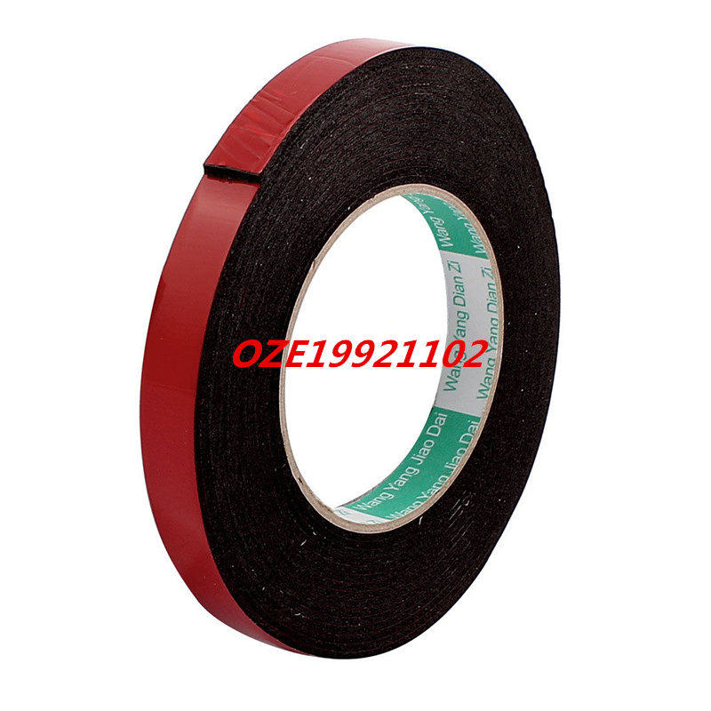 5M Long 15MM Width 2MM Thick Strong Double Sided Adhesive Tape Sponge Tape 50 meters roll 0 2mm thick 2mm 50mm choose super strong adhesive double sided sticky tape for cellphone tablet case screen
