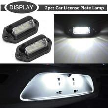 2pcs 12V Car License Plate Lights 6 LED Car Light Signal Light Source Waterproof Fog Light LED Lamps For Cars