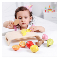 N184 Free shipping New Hot Fruit Toys Children WoodenCheese Leaves Cut Vegetables Kitchen toy
