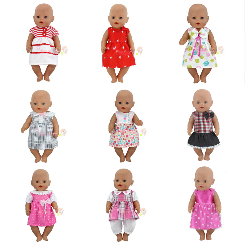 Beautiful Dress Clothes Fit For Born 43cm Doll Clothes Doll Accessories For 17inch Baby Doll