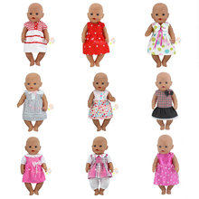 Hermoso vestido ropa for17 pulgadas 43 cm muñeca de los niños mejor regalo de cumpleaños