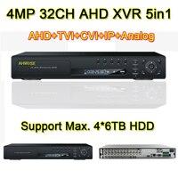 AHWVSE 4MP 1080 P, 960 P, 720 P камера наблюдения HI3531A 32CH 32 канала 5 в 1 коаксиальный Гибридный IP NVR CVI TVI аналоговая камера высокого разрешения, система виде