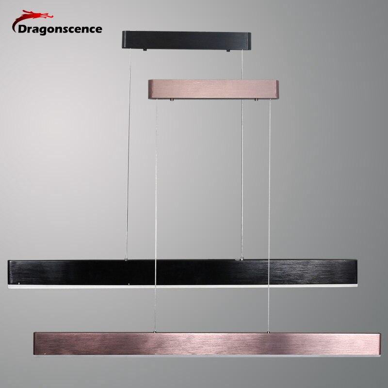 Dragonscence New Modern Led Lustre Pendant Lights For Living Room Dining Room Bar Kitchen Suspension Pendant Lamp brushed