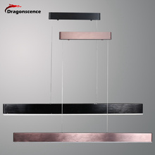 Dragonscence yeni Modern Led parlaklık kolye ışıkları oturma odası için yemek odası Bar mutfak süspansiyon kolye lamba fırçalanmış