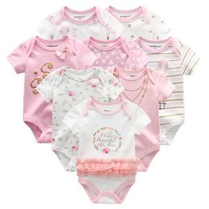 Image 2 - 8 יח\חבילה יוניסקס בנות תינוק בגדי Bodysuits תינוקת בגדי Unicor תינוק ילד בגדי ילדה Dressn כותנה Roupas דה bebe