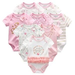 Image 5 - 8 шт./лот унисекс Одежда для маленьких мальчиков, платье для девочек, боди, одежда для девочек, одежда для малышей с единорогом, хлопковая одежда для маленьких девочек, детская одежда