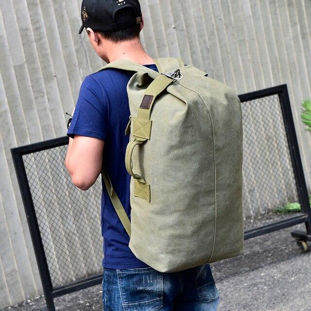 2018 Large Capacity Rucksack Man Travel Bag Mountaineering Backpack Male Luggage Boys Canvas Bucket Shoulder Bags Men Backpacks 2