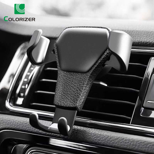 Image 1 - Universal Car Phone Holder Gravity Car Air Vent Mount In Car For iPhone XS X Samsung Xiaomi One hand Operate Phone Stand Bracket