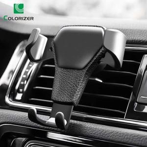 Image 1 - Uniwersalny uchwyt samochodowy na telefon Gravity Car Air Vent Mount w samochodzie na iPhone XS X Samsung Xiaomi obsługa jedną ręką uchwyt na stojak na telefon