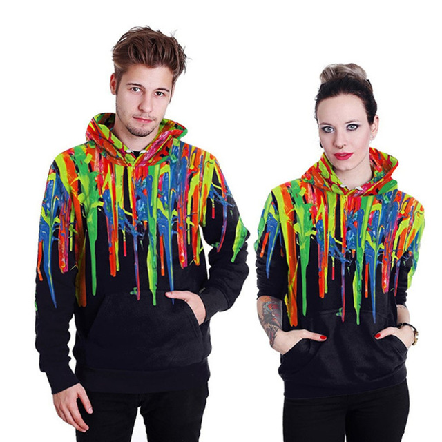 Pasangan 3d Printed Hooded Pullover Novelty Kreatif Desain Pria Wanita  Colourful Hoodies Sweatershirt Kasual Unisex 9ba7e9bb7b