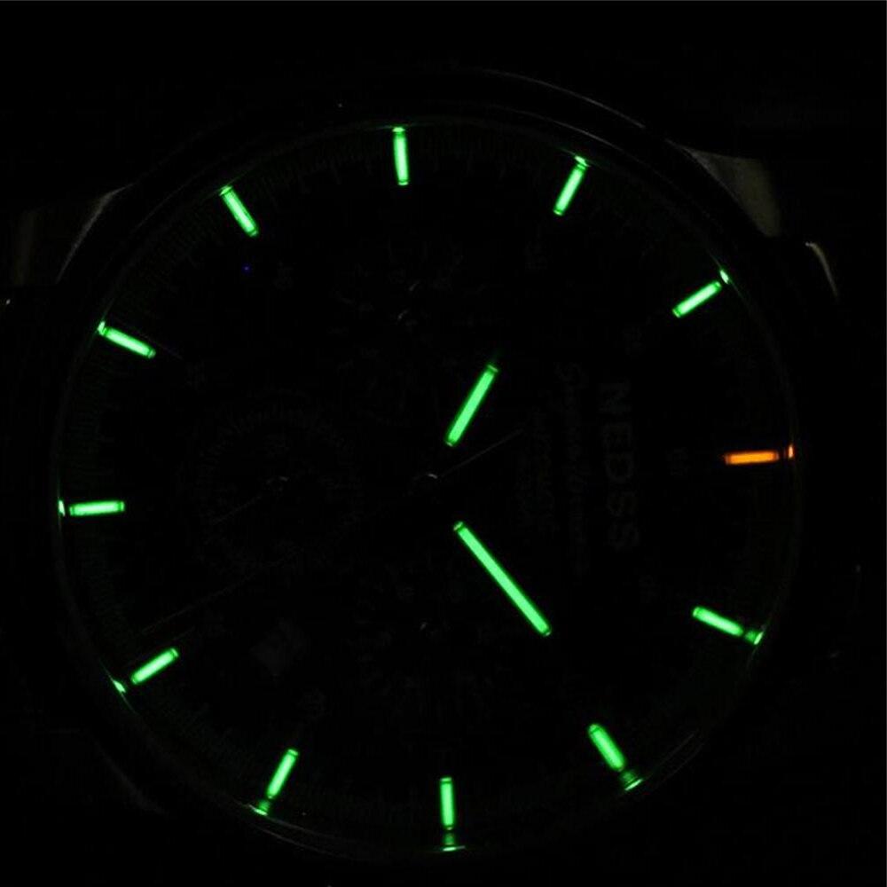 NEDSS brand siwss H3 Tritium Men Watch army automatic Mechanical  Wristwatches sapphire Luminous 100M Waterproof male clocks