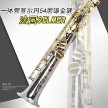 Selmer b one piece tube soprano saxophone musical instrument black ni-au