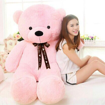 2017 New arrival 160CM giant pink life size teddy bear soft toy plush doll stuffed animals kid baby doll soft toy girls gift LLF 2017 new 160cm big giant sweater tactic plush stuffed toy teddy bear soft bears baby girl doll birthday gift pillow llf