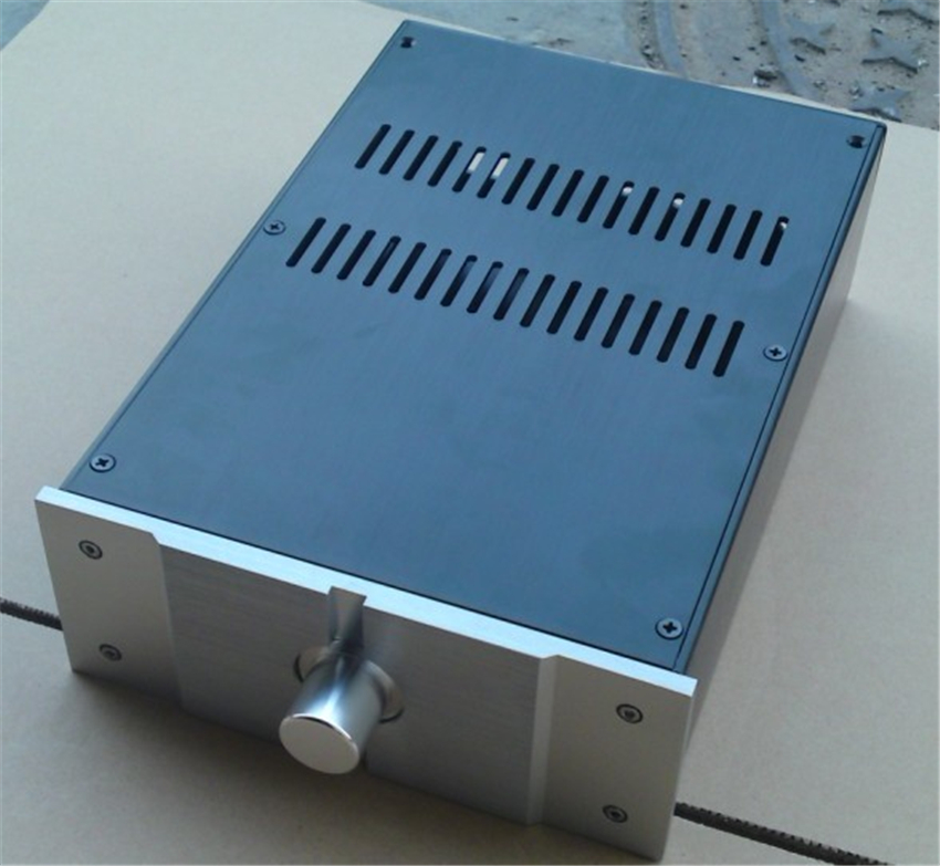 E-057 QUEENWAY JC229-PASS Full Aluminum Mini amplifier chassis Enclosure amp case box 220mm*90mm*311mm 220*90*311mm queenway 2210 new l panel cnc full aluminum chassis audio box power amplifier case 362mm 220mm 100mm 362 220 100mm