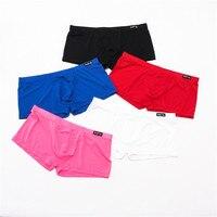 5PCS/Lot Men Boxers Ice Silky Underwear Male Sexy Ultra Thin Underpants Men Cuecas Tight Boxer Shorts Men's Underwear Nightwear