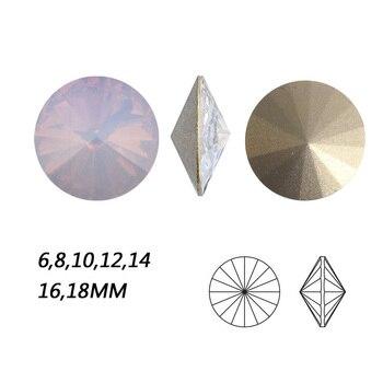 NYMR #1122 todos los tamaños ópalo de agua Rosa Rivoli piedras de cristal punto atrás de fantasía estrás par coser Strass para la ropa